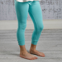 Capri Sutton Button Leggings - Tiffany