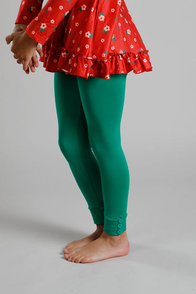 Sutton Button Leggings - Kelly
