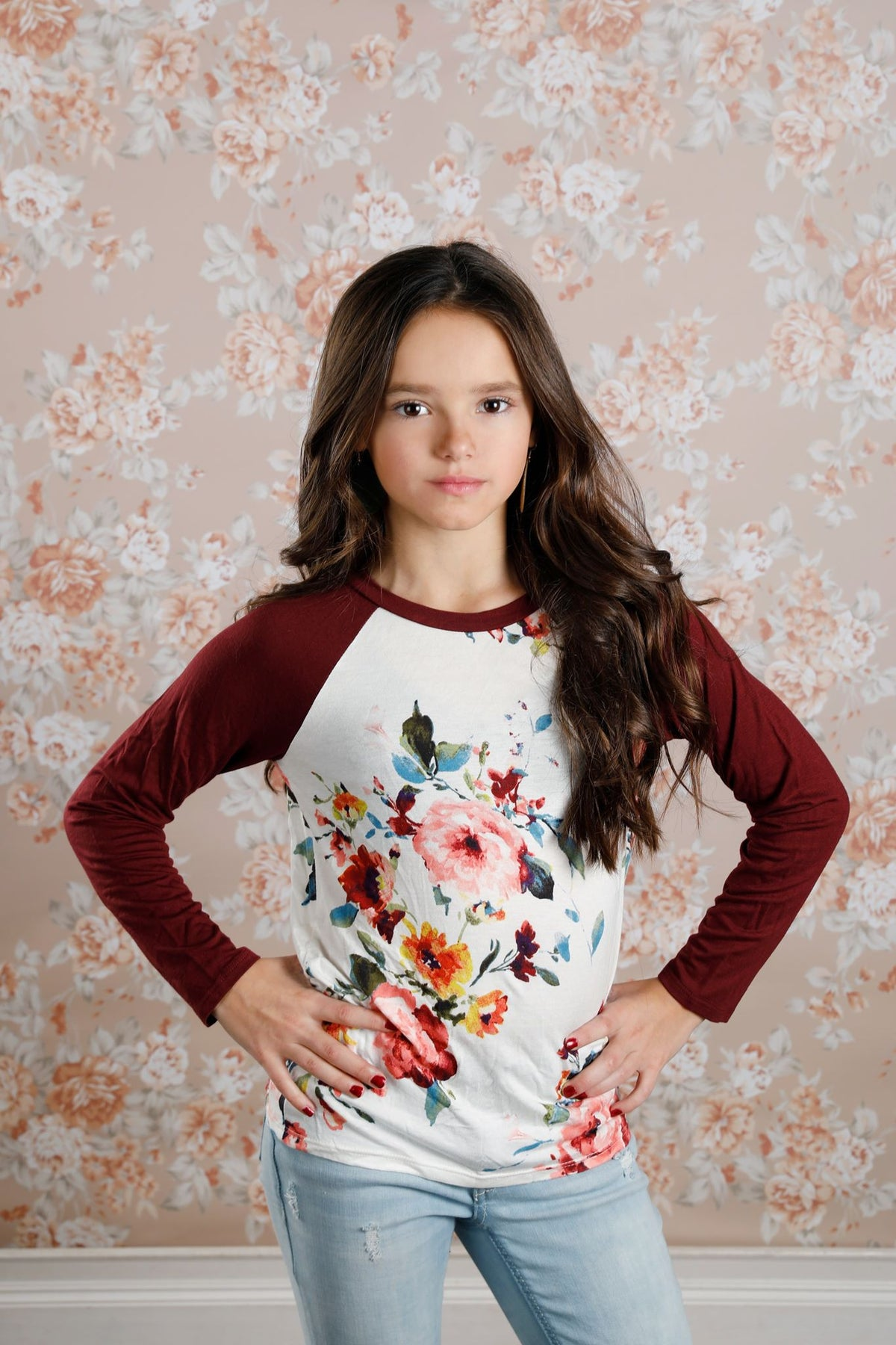 W&W Floral Round Neck Top - 2 Colors
