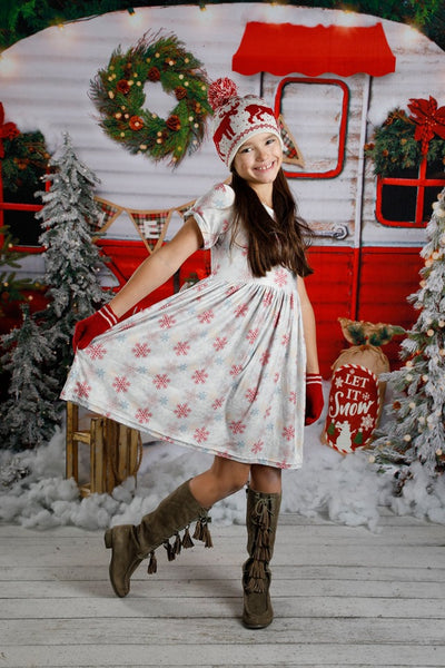 Jenny Dress - Snowflake Surprise