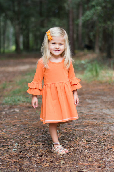 Amelia Dress - Pumpkin