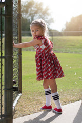 Adeline Dress - Baseball Banner