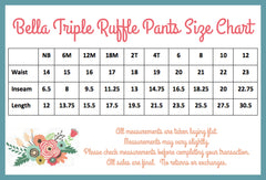 Bella Triple Ruffle Pants - Rainbow - Pearls and Piggytails