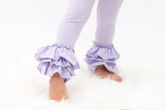 Bella Triple Ruffle Pants - Lilac
