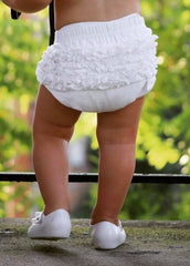 Brylee Baby Bloomer - White - Pearls and Piggytails