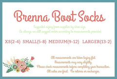Brenna Boot Socks - Navy