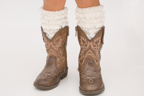 Brenna Boot Socks - Soft White