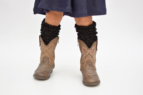 Brenna Boot Socks - Black