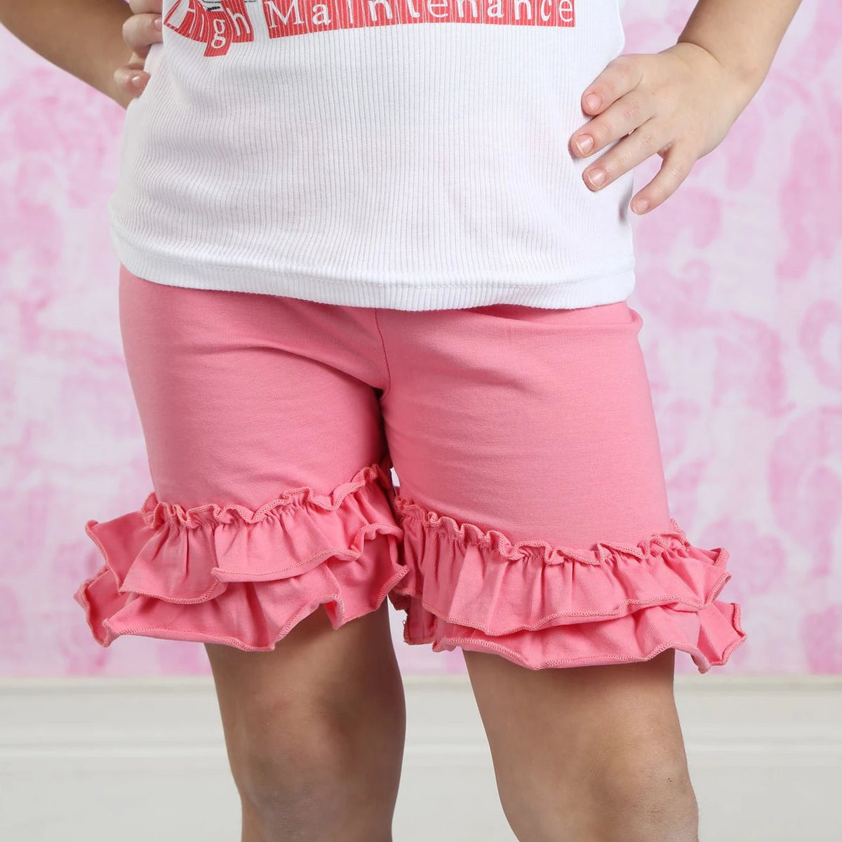 Ruffle Shortie - Bubblegum - Pearls and Piggytails