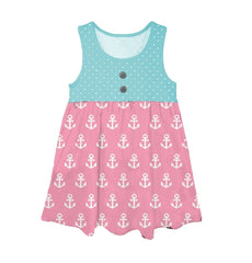 Bargain Boutique Tank Dress - Anchors Away