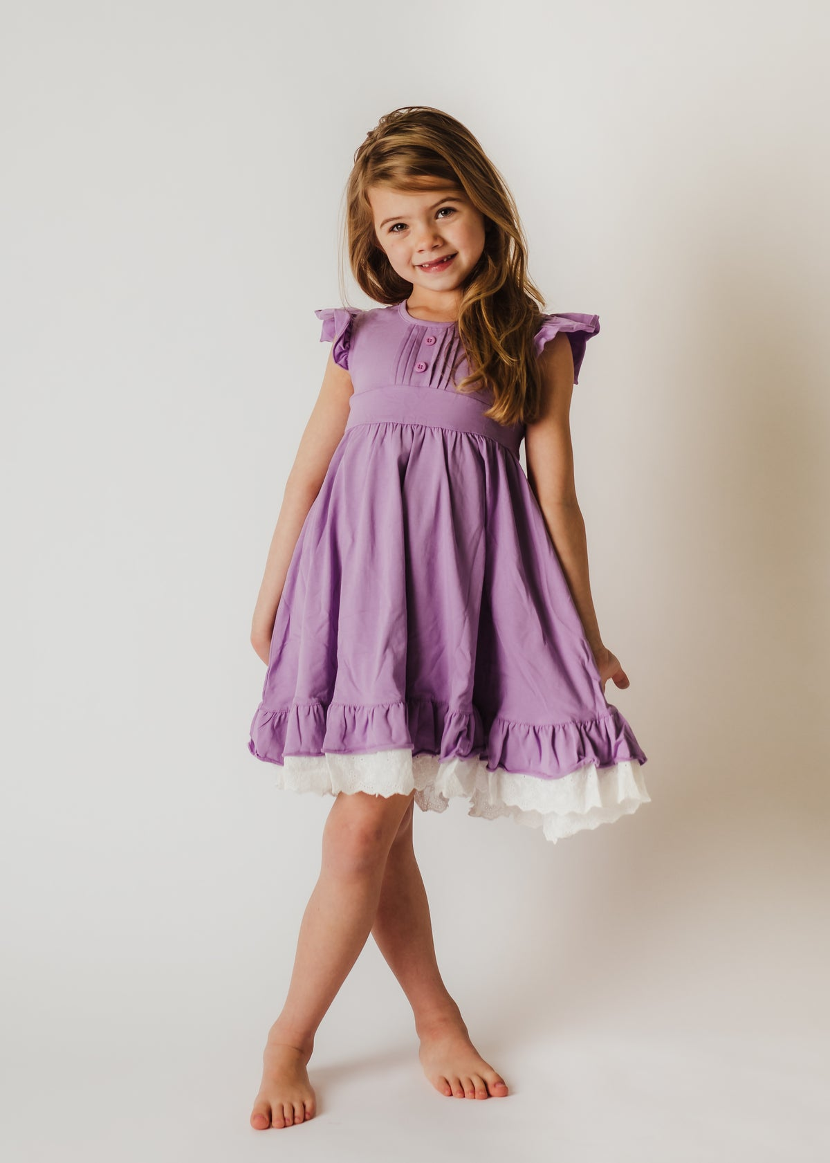 Victoria Dress - Purple
