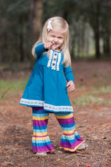 Ellie Ruffle Pants - Enchanted Rainbow