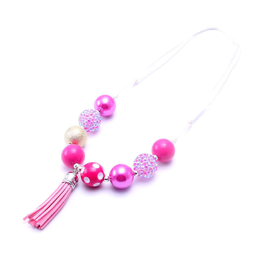 Chunky Bubblegum Necklace - Style A - Pearls and Piggytails