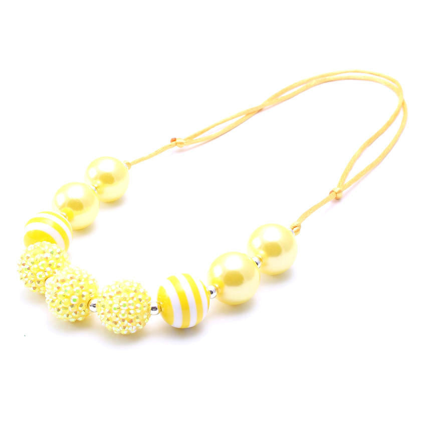 Chunky Bubblegum Necklace - Style S - Pearls and Piggytails