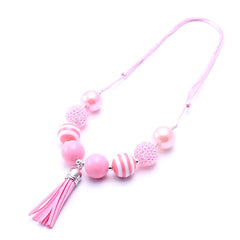 Chunky Bubblegum Necklace - Style G - Pearls and Piggytails