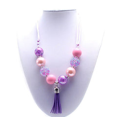Chunky Bubblegum Necklace - Style F - Pearls and Piggytails