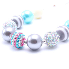 Chunky Bubblegum Necklace - Style I - Pearls and Piggytails