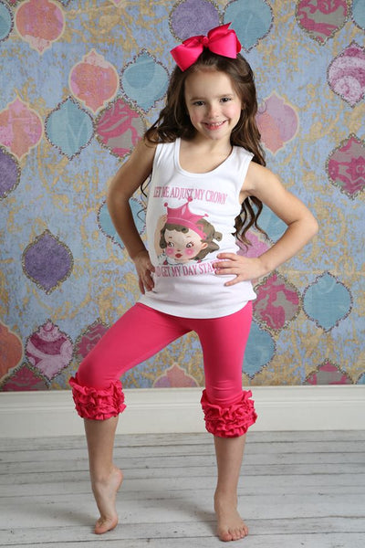 Capri Icing Leggings - Hot Pink