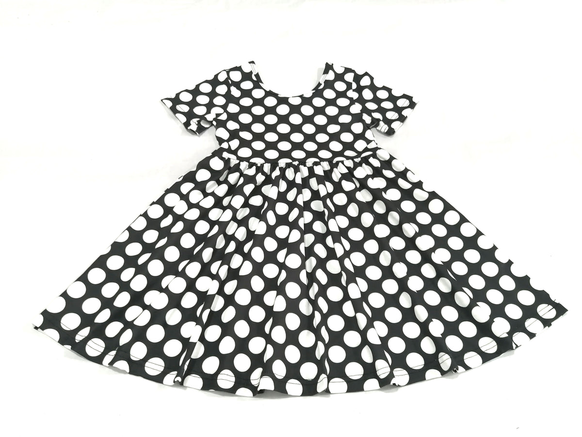Mia Dress - White Polka Dot