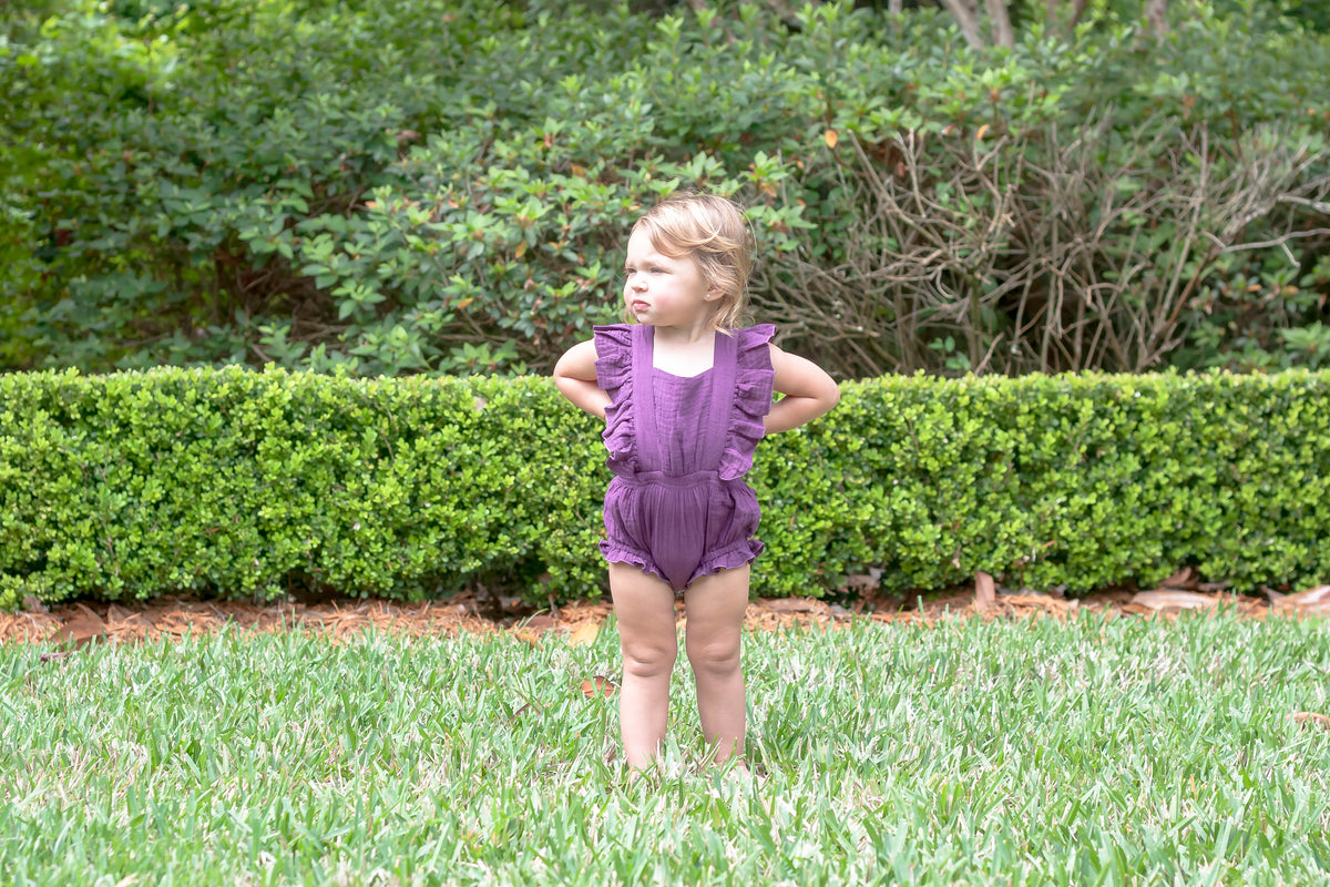 Bargain Boutique Summer Romper - Grape
