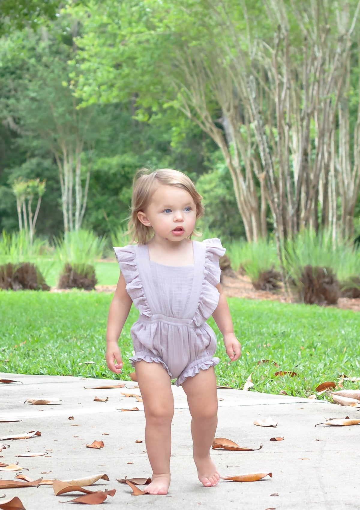 Bargain Boutique Summer Romper - Lilac