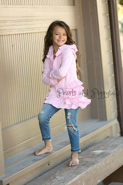 PREORDER Riley Ruffle Jacket - Light Pink