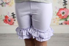 Ruffle Shortie - Lilac - Pearls and Piggytails