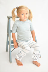 Icing Ruffle Leggings - Sage Stripe
