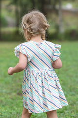 Adeline Dress - Retro Stripe
