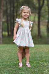 Adeline Dress - Sherbert Delight
