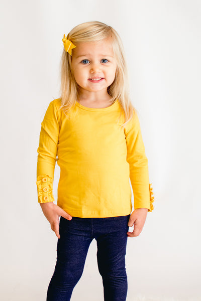 Bentley Button Top - Mustard