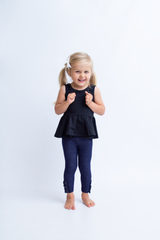 Emmy Sleeveless Peplum - Black