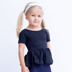Emmy Short Sleeve Peplum - Black