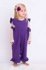 Reagan Romper - Raisin