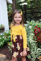 Bargain Boutique - Mustard Dress Floral Bottom