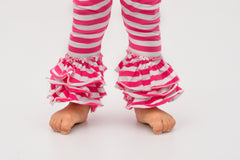 Bella Triple Ruffle Pants - Cupcake
