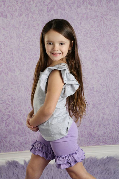 Ruffle Shortie - Purple
