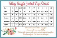 PREORDER Riley Ruffle Jacket - Red - Pearls and Piggytails