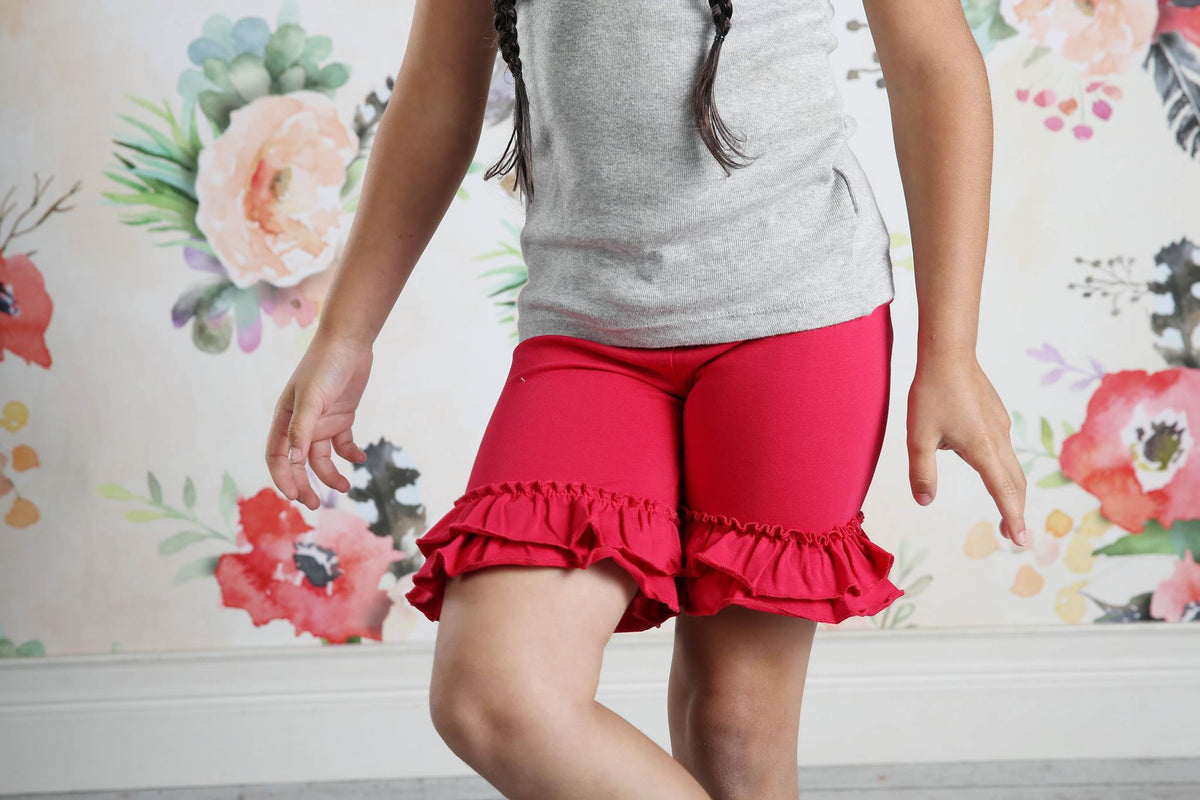 Ruffle Shortie - Ruby