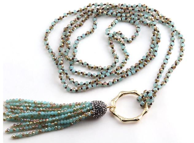 WW Necklace - Crystal Tassel