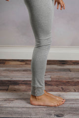Sutton Button Leggings - Heather