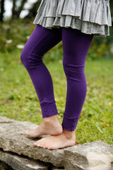 Sutton Button Leggings - Raisin