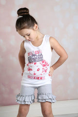 Ruffle Shortie - T-Shirt - Pearls and Piggytails