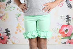 Ruffle Shortie - Thin MInt - Pearls and Piggytails