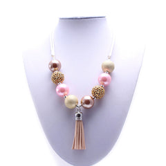 Chunky Bubblegum Necklace - Style D - Pearls and Piggytails