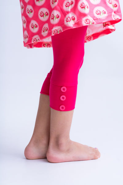 Capri Sutton Button Leggings - Melon