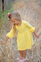 Amelia Dress - Light Yellow