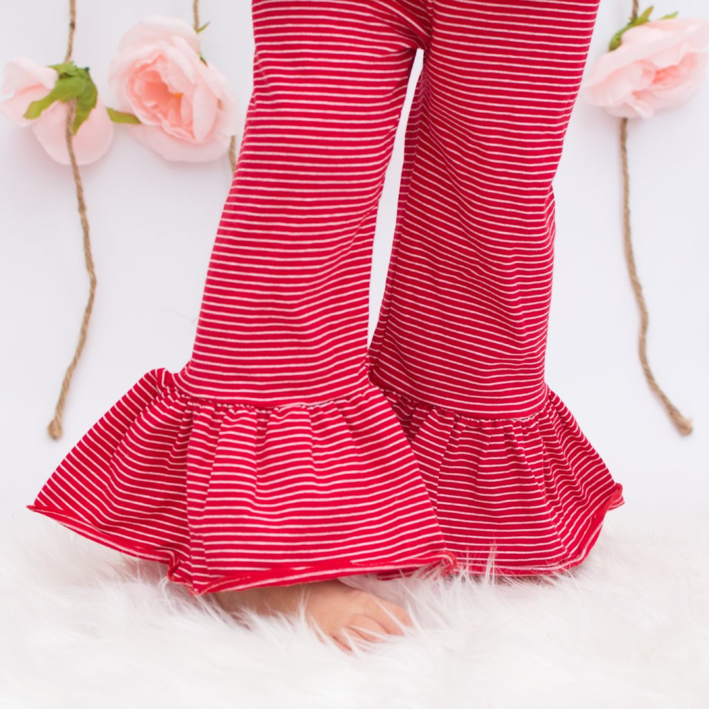 Ellie Ruffle Pants - Apple Orchard