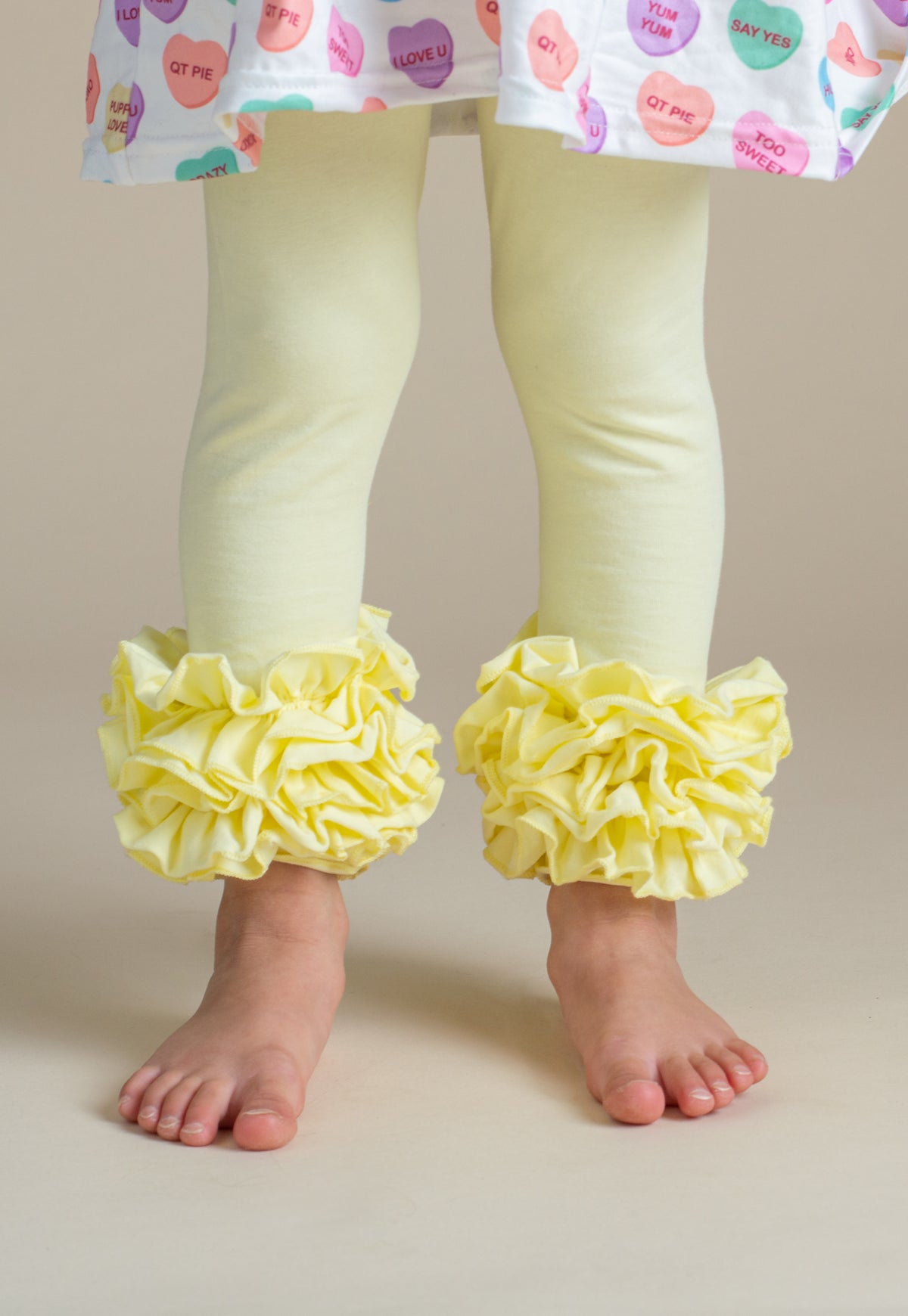 Icing Ruffle Leggings - Mellow Yellow