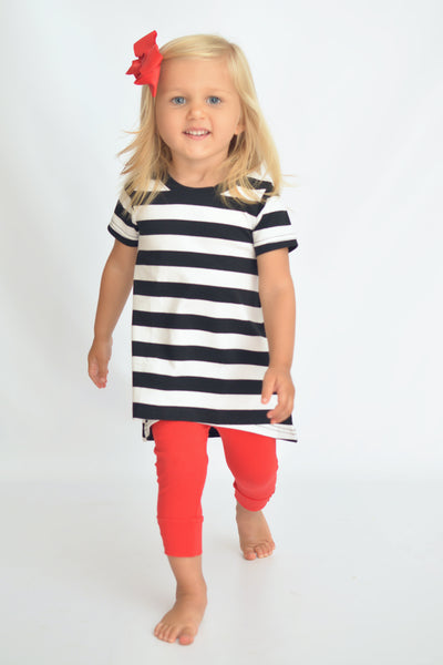 Lola Top - Black / White Stripe